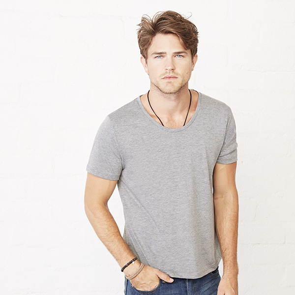 Men Wide Neck Tee
